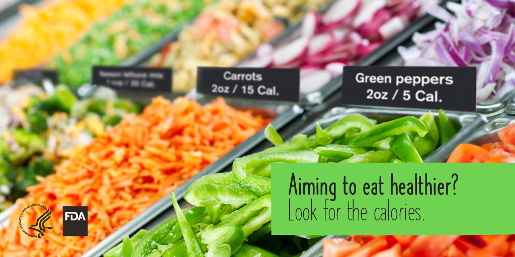 Aiming to eat healthier? Look for the calories.