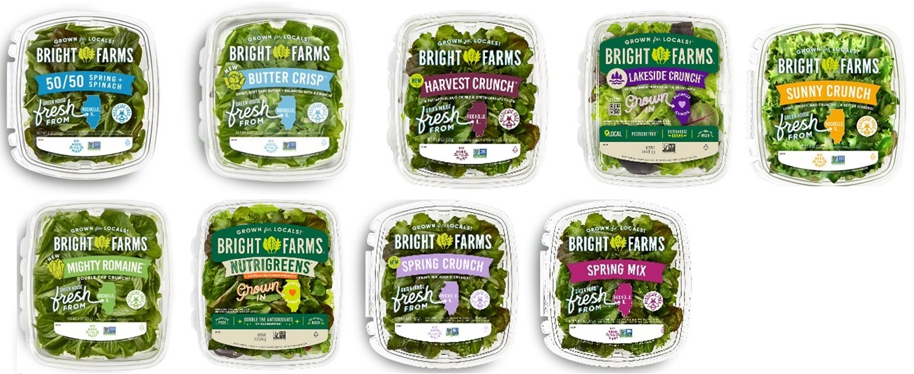 Outbreak Investigation of Salmonella Typhimurium in BrightFarms Packaged Salad Greens - Product Images
