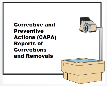 CAPA reports of Corrections and Removals