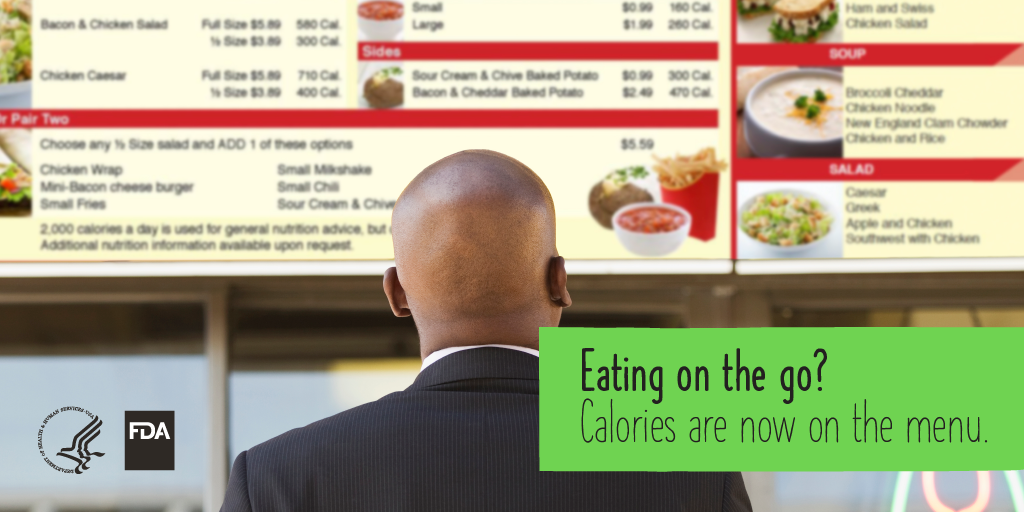 Eating on the go? Calories are now on the menu.