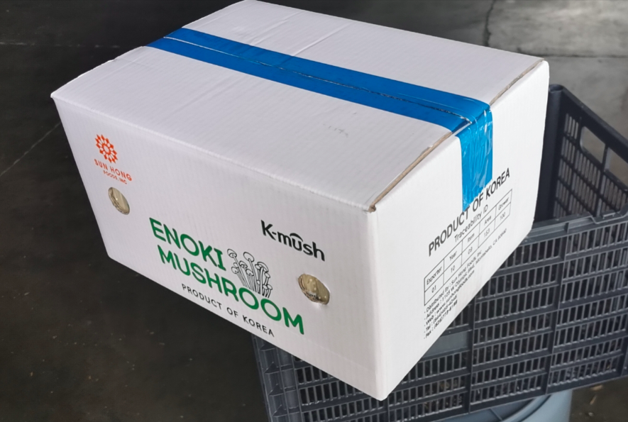 Picture of enoki mushroom case