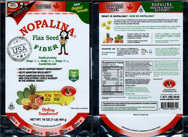 Nopalina Flax Seed Label Image