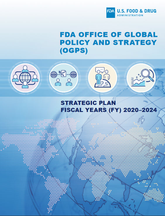 Cover of the FDA Office of Global Policy and Strategy Five-Year Strategic Plan