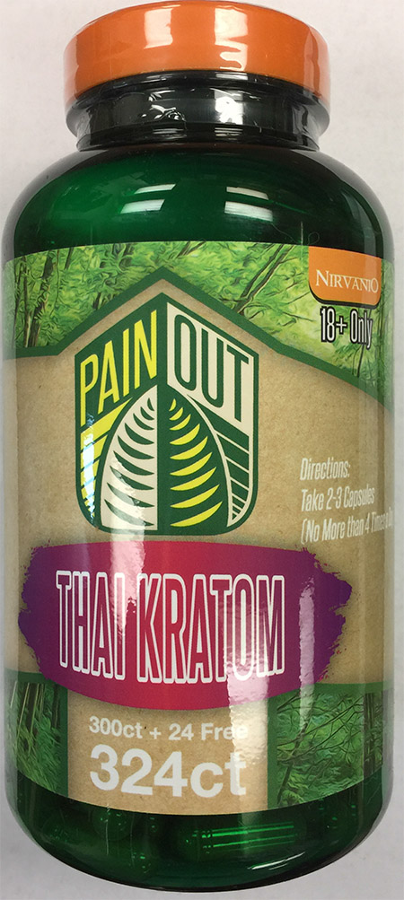 Product image: Pain Out Thai Kratom 324 count bottle