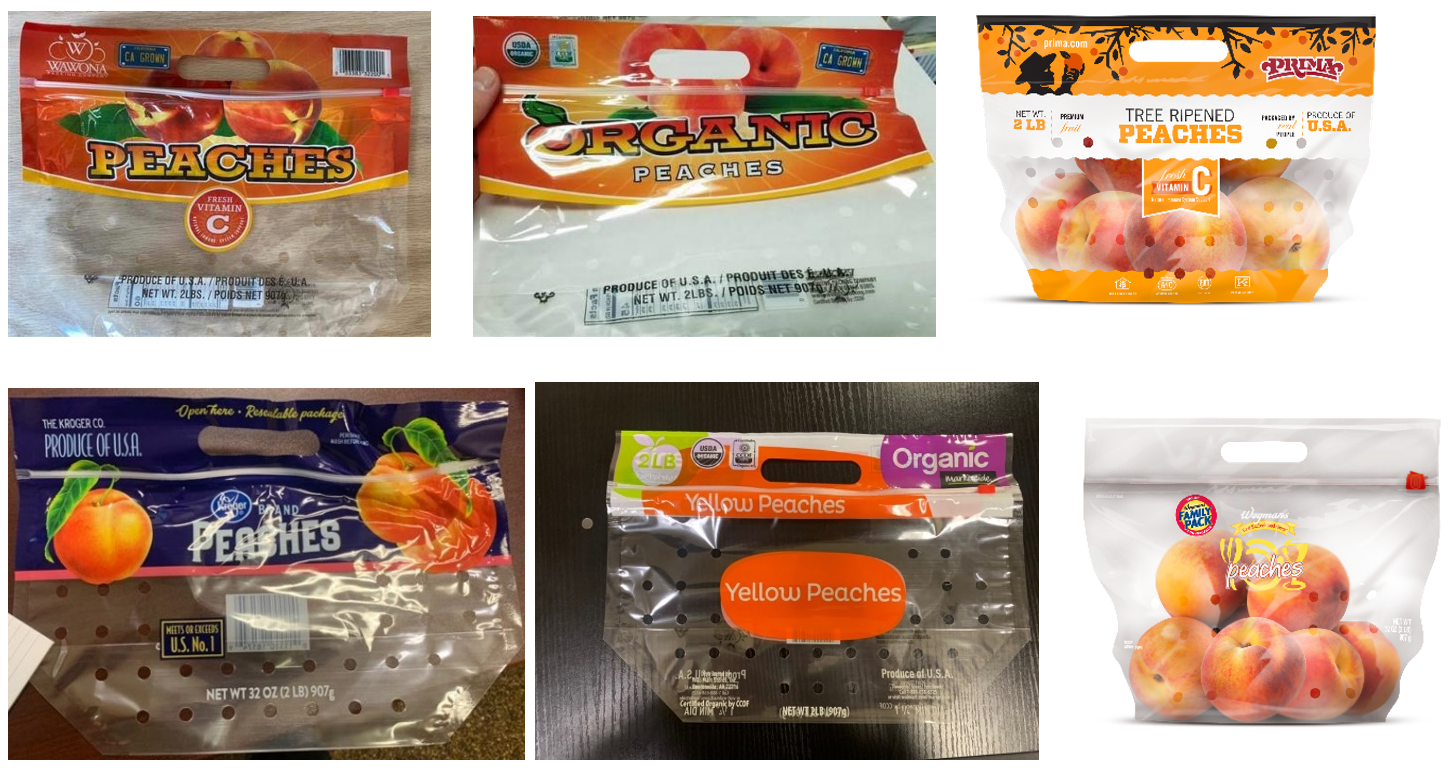 Outbreak Investigation of Salmonella Enteritidis in Bagged Peaches (August 2020) - Photos of Recalled Bagged Peaches