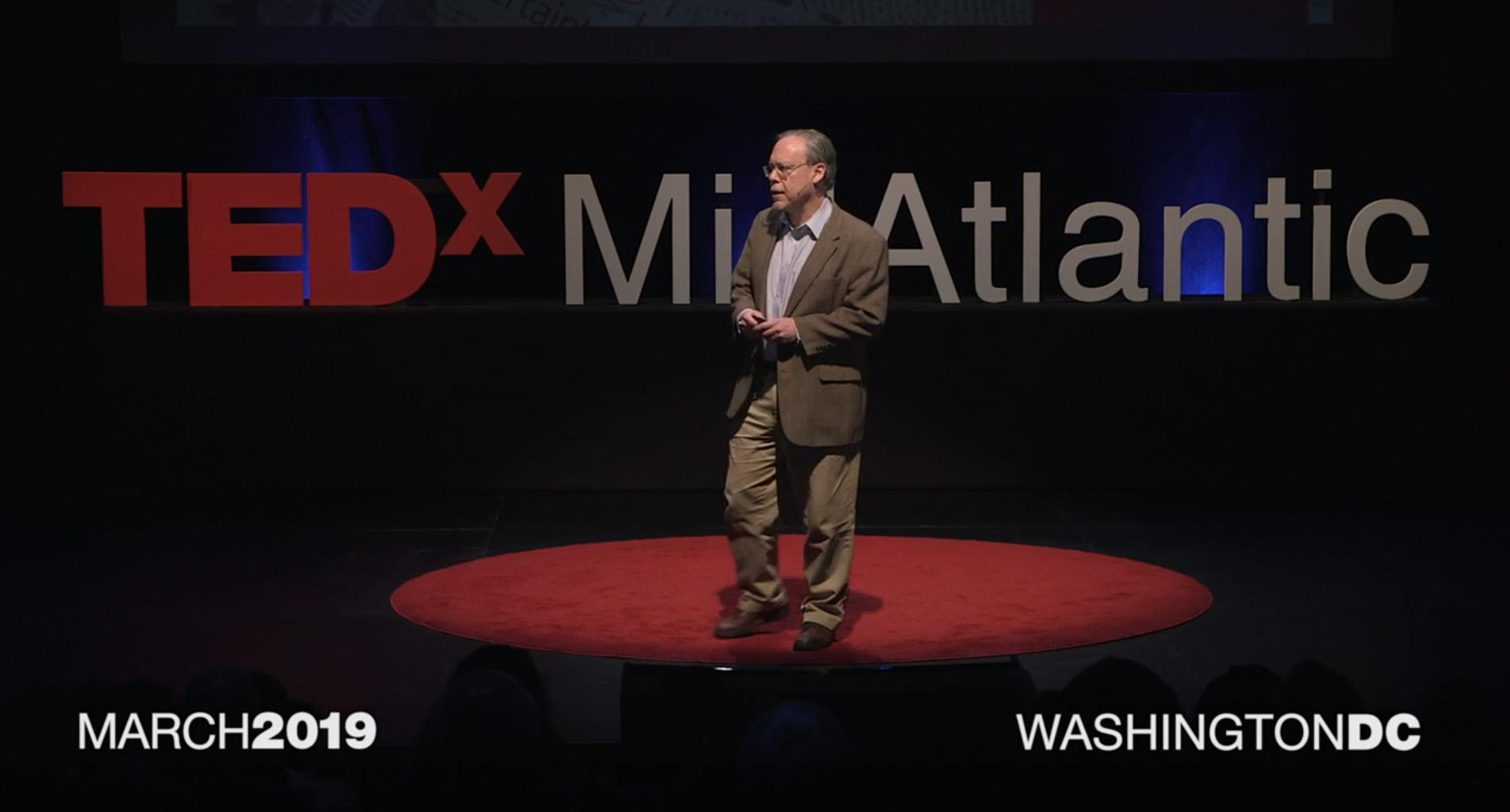 Mitch Zeller speaking at TEDx MidAtlantic March 2019