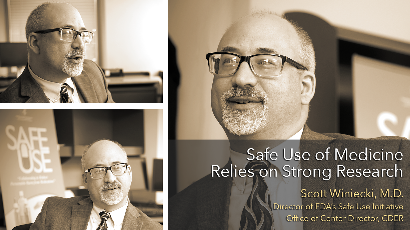 Scott Winiecki, MD, Director of FDA's Safe Use Initiative, Office of Center Director, CDER