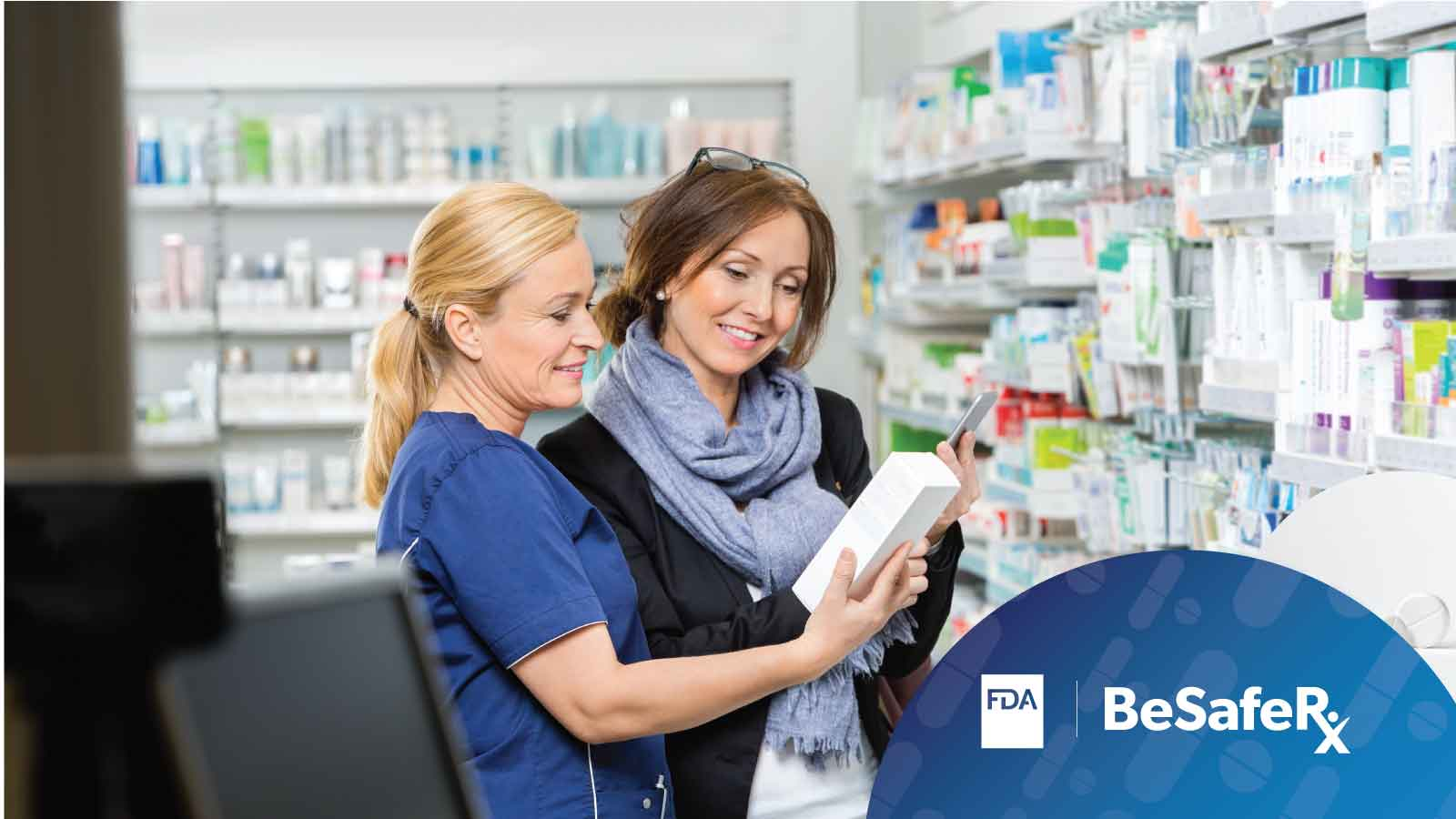 Woman Speaking with Pharmacist