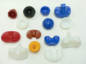 Image of medical device components with color additives
