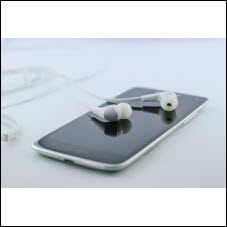 Earbuds and phone