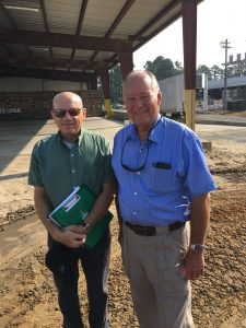 FDA Deputy Commissioner Stephen Ostroff, left, with farmer Brent Jackson in Autryville, North Carolina