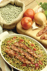 food ingredients additives and colors - bacon and peas casserole