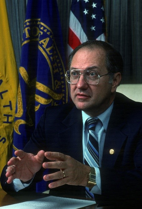 Commissioner Frank Young, appointed in 1984, faced the wrath of AIDS activists in search of both more therapeutic options and a greater voice in the formation of policies affecting AIDS patients.