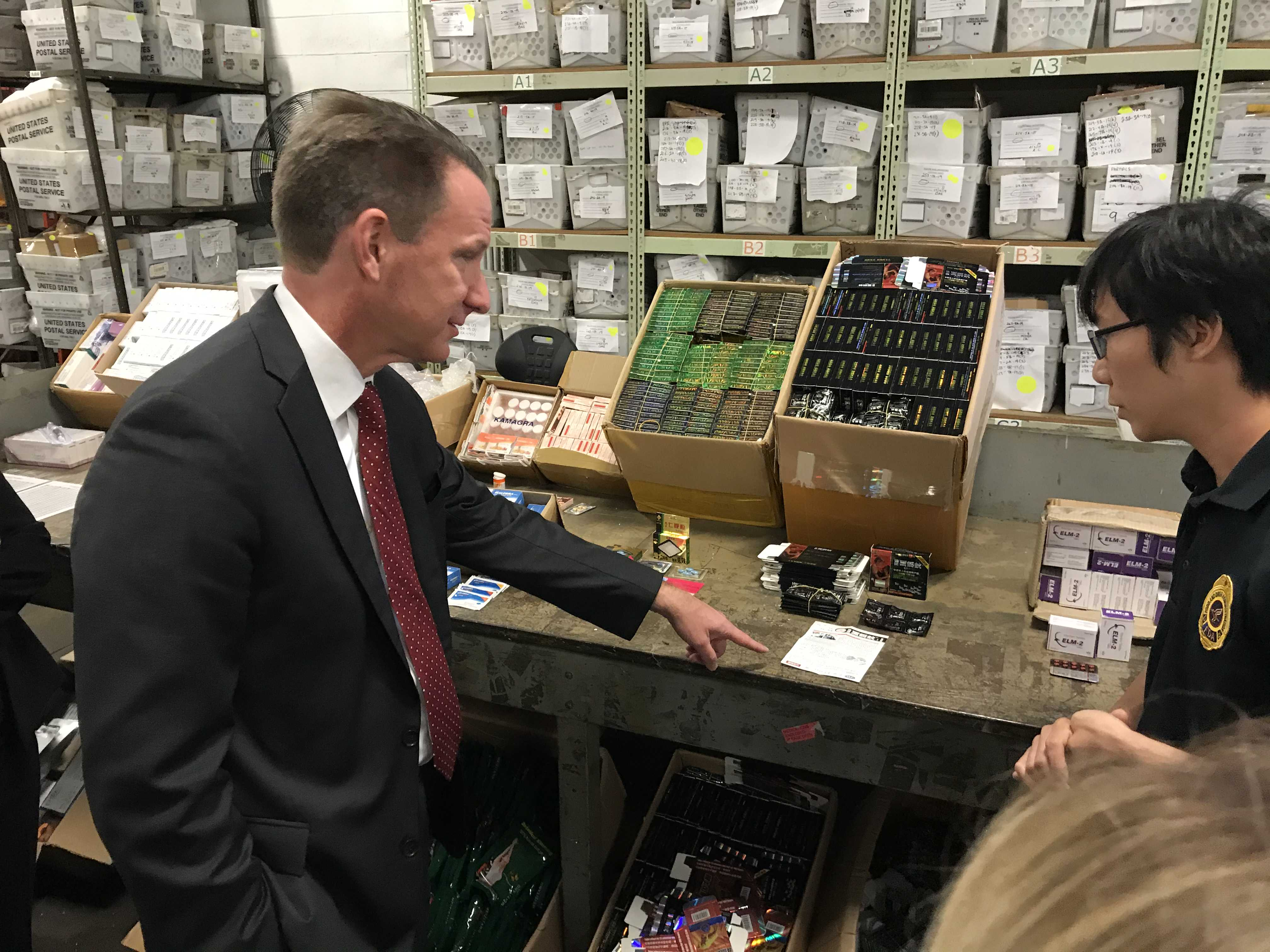 Acting FDA Commissioner Ned Sharpless, M.D., Visit to JFK/Secaucus International Mail Facilities