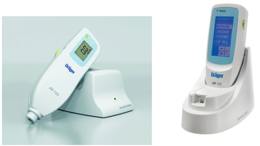 The JM-103 and JM-105 Jaundice Meters are non-invasive transcutaneous bilirubinometers, which measure yellowness of subcutaneous tissue in newborn infants.