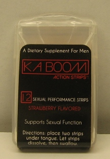 Kaboom Action Strips label 1