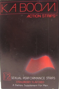 Kaboom Action Strips label 2