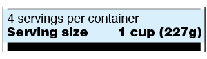 Serving Size Sample Label
