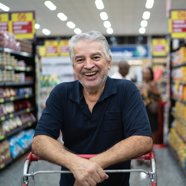Older Adult Shopping In a Grocery Store