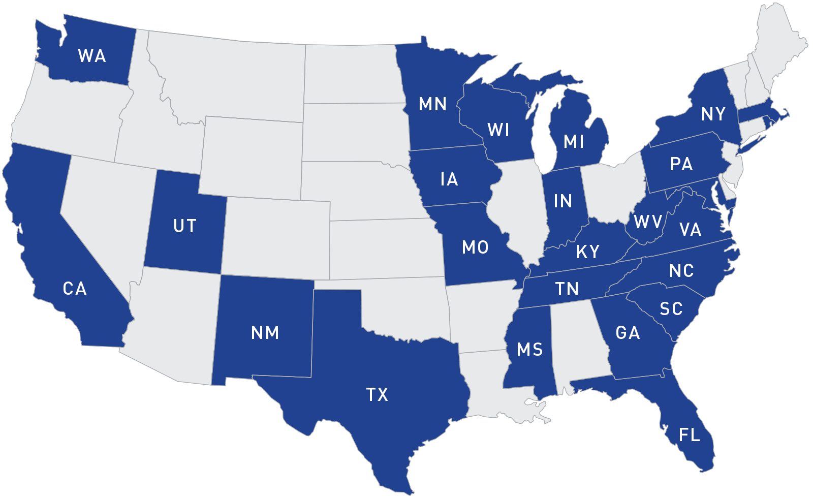 States Participating in the Rapid Response Team (RRT) Program from 2008 - 2018