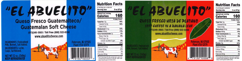 Sample Product Label from the Outbreak Investigation of Listeria monocytogenes in Hispanic-style Fresh and Soft Cheeses (February 2021) - El Abuelito