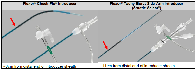 Flexor Check-Flo Introducers and Flexor Tuohy-Borst Side-Arm Introducers (Shuttle Select)