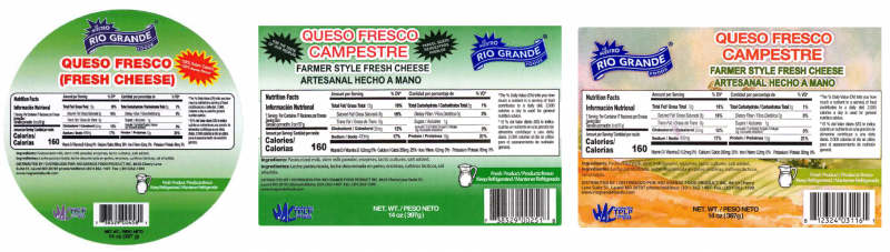 Sample Product Label from the Outbreak Investigation of Listeria monocytogenes in Hispanic-style Fresh and Soft Cheeses (February 2021) - Rio Grande