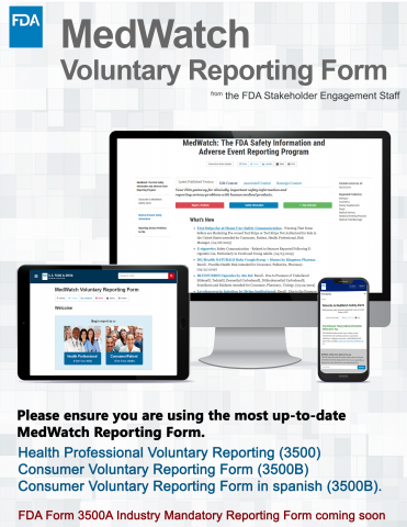 MedWatch Reporting Forms