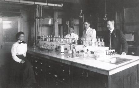 FDA Bureau of Chemistry 1910 image of scientists in research laboratory