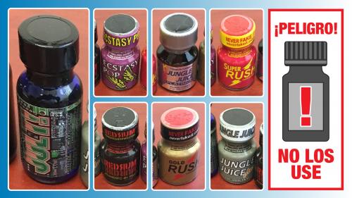 """La ingesta o inhalación de """"poppers"""" de nitrito puede causar lesiones graves o la muerte"""