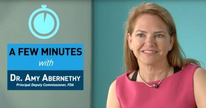 FDA Principal Deputy Commissioner Dr. Amy Abernethy reflects on the importance of incorporating patient perspectives into decisions about new and developing therapies.