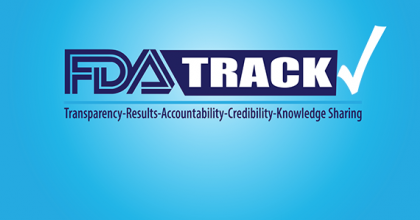 FDA-TRACK stands for transparency, results, accountability, credibility, and knowledge sharing
