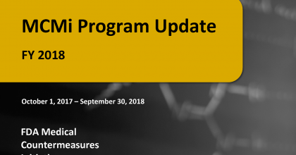 MCMi Program Update FY 2018 report cover