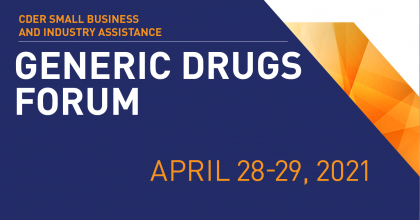 Generic Drugs Forum is April 28-29