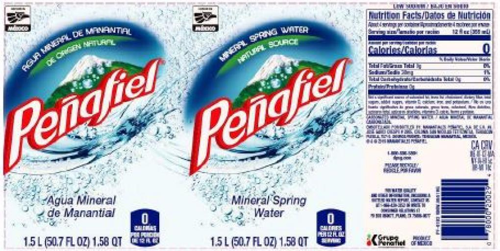 Penafiel Mineral Spring Water, 1.5L