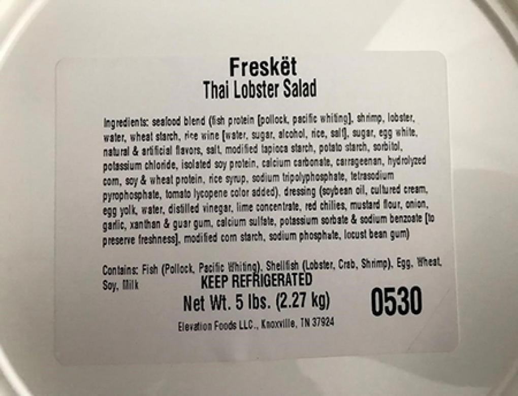 """Product top image, Freskët -brand Thai Lobster Salad 5 Lbs"""