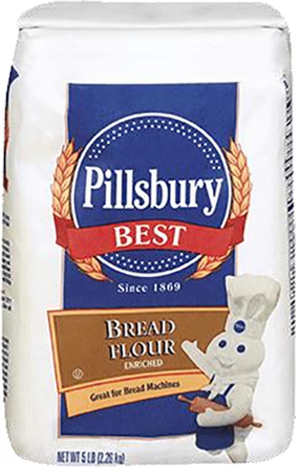 """Label, Pillsbury Best Bread Flour 5lb"""