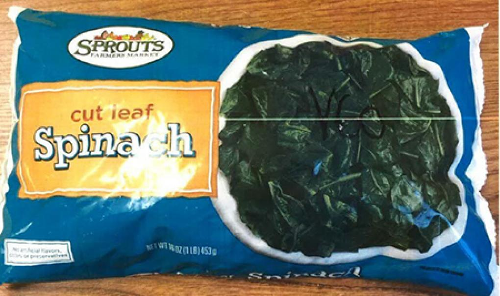 Front of Package – Sprouts Cut Leave Spinach