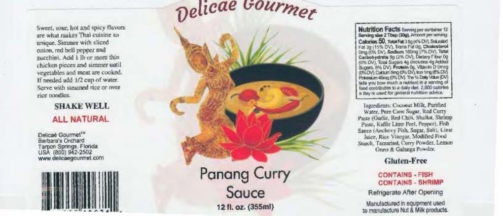 Panang sauce