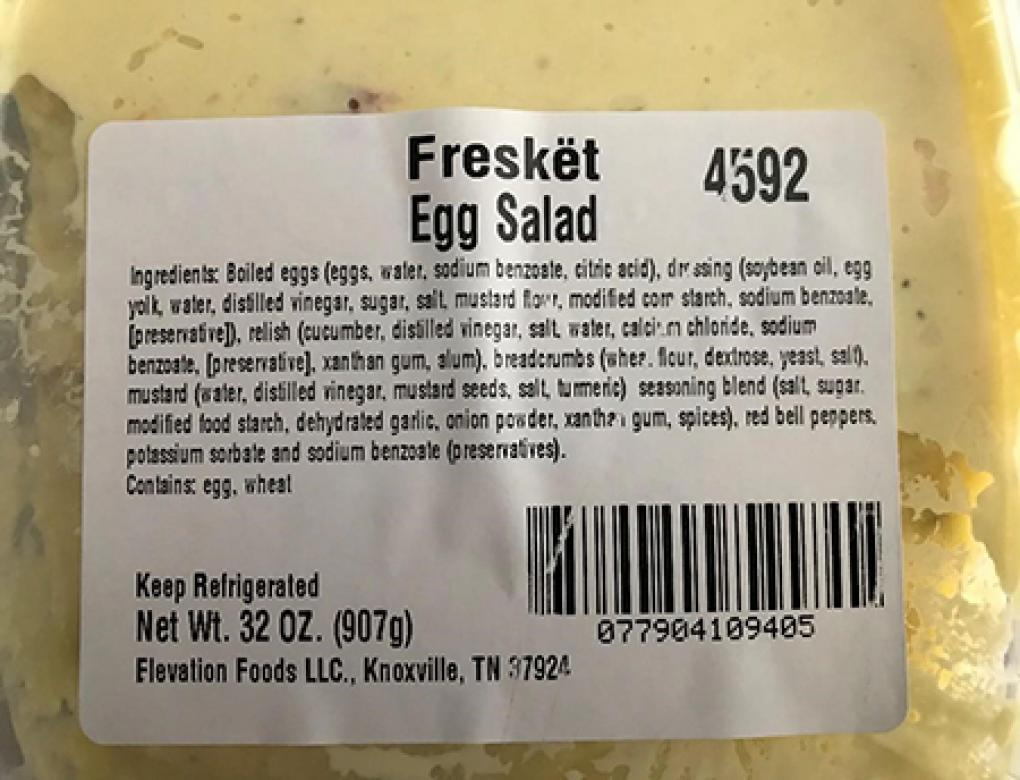 """Product top image, bar code, Freskët -brand Egg Salad 32 oz""'"