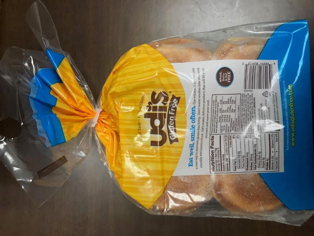 Udi Hamburger Rolls - rear packaging