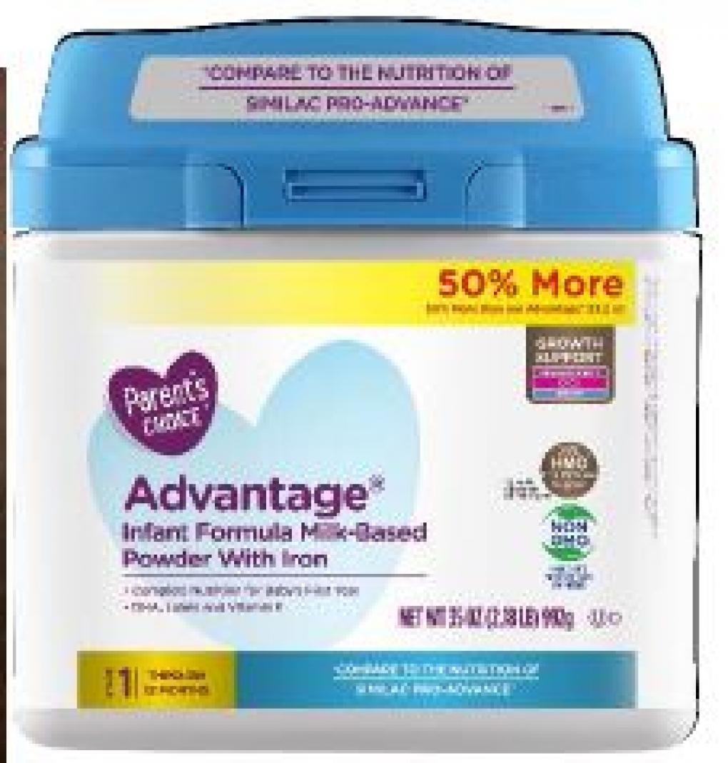 Primary Display Panel:  Parent's Choice Advantage Infant Formula Milk Based Powder with Iron