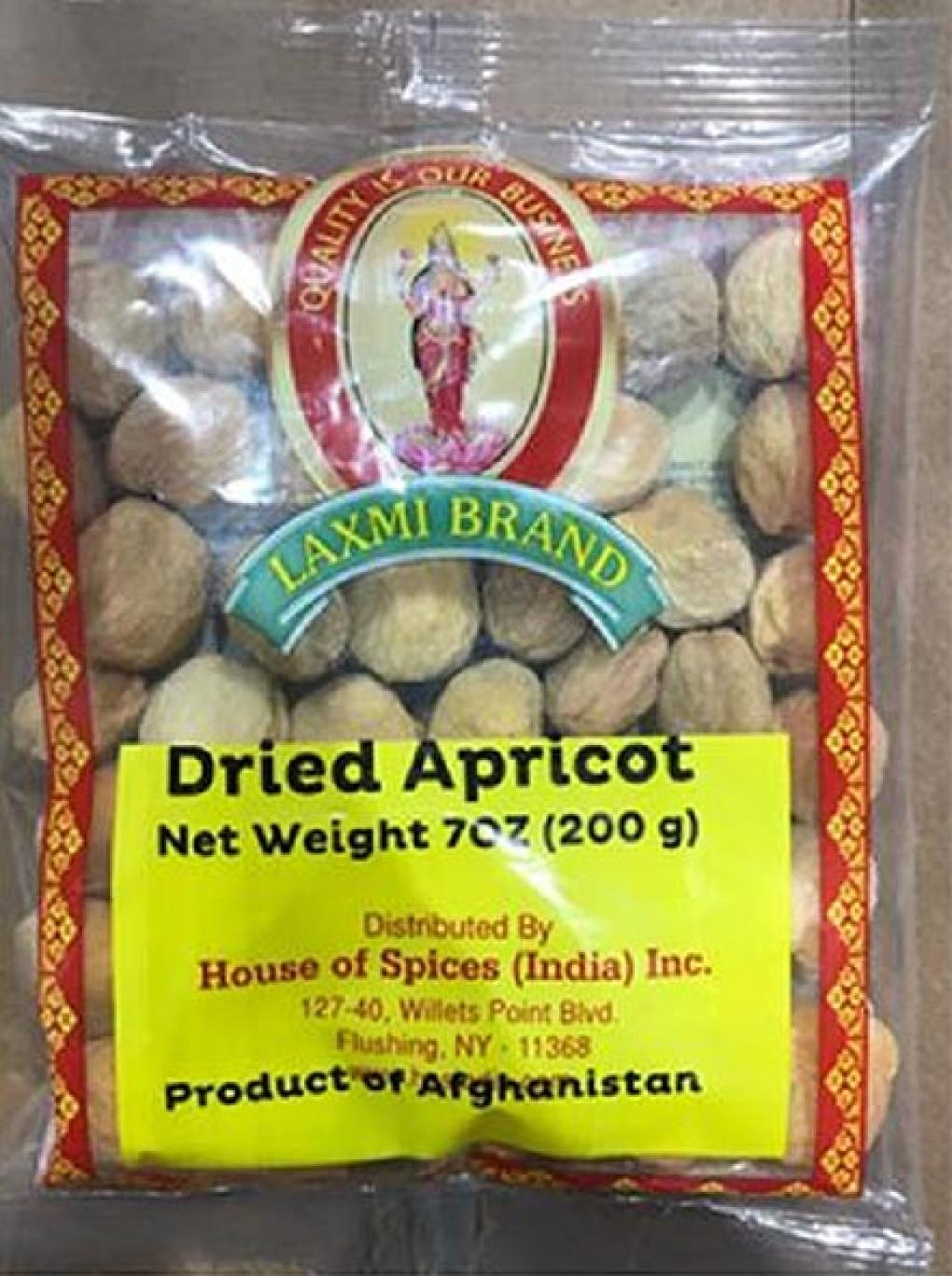 Laxmi Brand Dried Apricot, Net Wt. 7oz, Front of the package