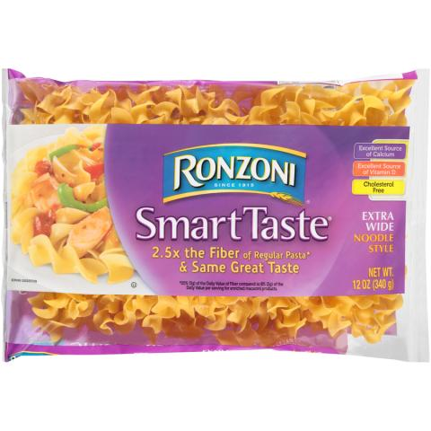 Photo 1 – Labeling, Ronzoni Smart Taste Extra Wide Noodle