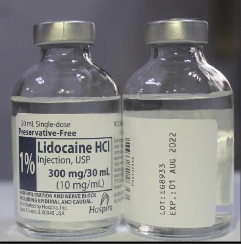 Product image Hospira 1% Lidocaine HCl Injection, USP 30 mL