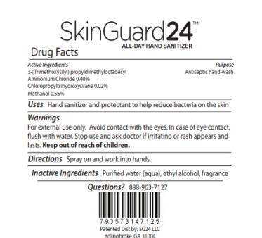 Image – SkinGuard24, All Day Hand Sanitizer, Foam Pump 8 oz.