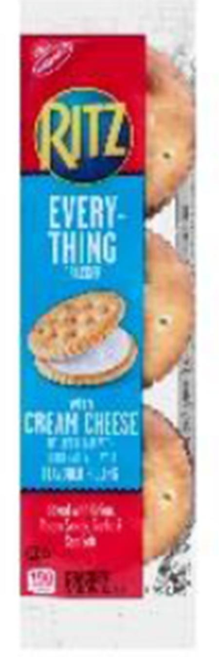1.35 OZ RITZ EVERYTHING CRACKER SANDWICHES WITH CREAM CHEESE
