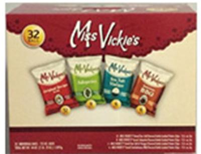 """32 count Miss Vickie's Multipack Box Containing Jalapeno Flavored Chips"""