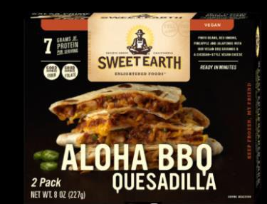 """Packaging for Sweet Earth Aloha BBQ Quesadilla"""