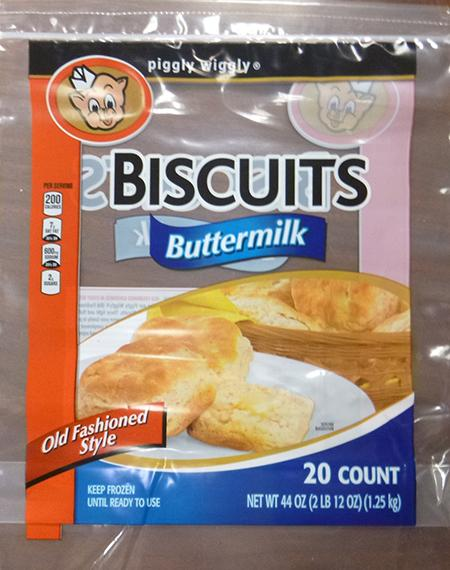 PIGGLY WIGGLY BUTTERMILK BISCUITS, 20 ct UPC 4129075433